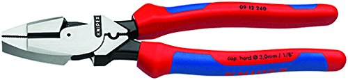 Knipex 09 12 240 SBA 9.5-Inch Ultra-High Leverage Lineman's Pliers with Fish Tape Puller and Crimper $41.98