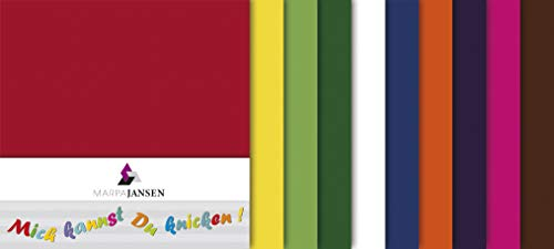MarpaJansen Faltblätter - Origmaipapier - Transparentpapier farbig - Sortiert - (10 x 10 cm, 500 Blatt, 42 g/m²) - bunt Sortiert