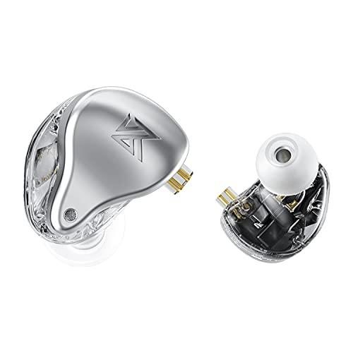 KZ AST Earphone 24 BA Unit high-Fidelity bass Monitor Earphone Balanced Armature Earphone Noise Reduction earplugs Body Engineering Comfortable Sports Music Earphone (no mic, Sliver)