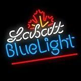 LeeQueen Creative Design Customized Labatt Blue Light Neon Lamp Sign 17inx14in Bar Beer Light Glass Artwork