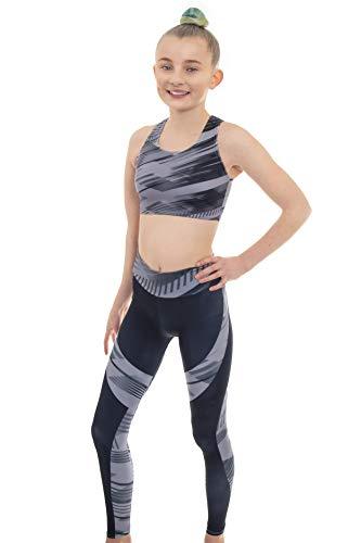 Samba Grey por Velocity Pro Sport Crop Top y Leggings Set para Niñas Ideal para Gimnasia Ejecución Verano Casual Gimnasia Ropa Deportiva Yoga Ropa 7-8 años