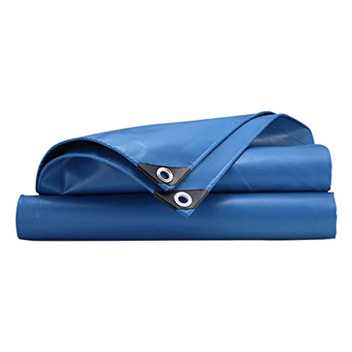 ZZR Outdoor Tarp Cover,Thicken Material Anti-aging, Windproof, Rainproof, UV Resistant Waterproof Poly Tarp Cover Tent Shelter, 17 Sizes to Option 615g/m²