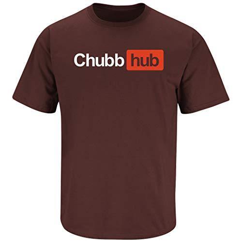 Cleveland Football Fans. Chubb-Hub Brown T-Shirt (Sm-5x) (Short Sleeve, 2XL)