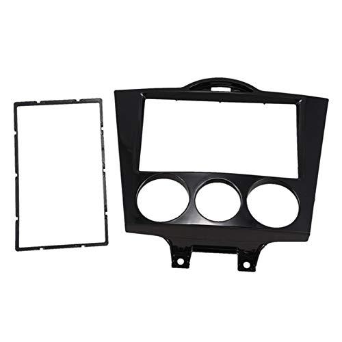 SHOUNAO 2DIN Radio Fascia Fit para Mazda RX8 RX-8 Frame Radio Reembolso CD DVD Estéreo Panel De Audio Montaje Instalar Kit Dash Kit Placa De Cara (Color : Black)