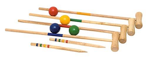 KROCKET KRICKET SET 4 SPIELER 21tlg. HOLZ Holzspielzeug Kinderland