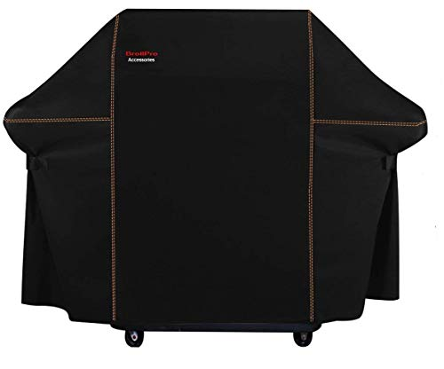 BroilPro Accessories BPA8 Heavy Duty Grill Cover for Weber Genesis E and S Series Gas Grills Including Basting Brush and Tongs(Compared to The Weber 7107 Grill Cover) Covers Grill