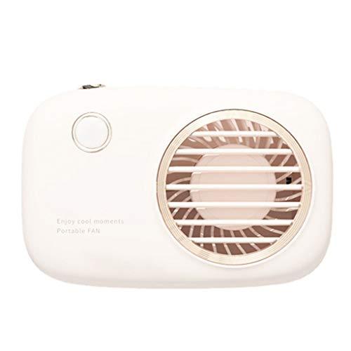 Mini ventilador portátil con forma de cámara, pequeño ventilador de refrigeración personal silencioso, mini ventilador portátil, para senderismo, deportes al aire libre, viajes