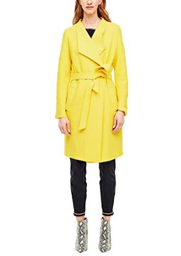 s.Oliver RED Label Damen Wollmantel mit offenen Kanten Yellow 42