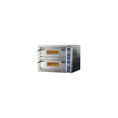 D.O.M. Elektrischer Pizzaofen 2 Kammern 105 x 105 cm mit Glas