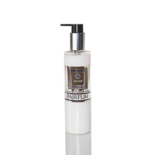 Orgánico Loción para Manos (Prebiótico Es Mejor) - Hombre - por Pairfum - Perfume: Cedro Noir - 250ml - Mejora la Salud de Tu Piel - Rica en Orgánico/Natural Aceites Esenciales - Ideal o Sensible -