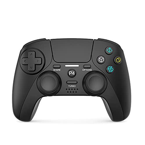 JORREP Wireless Controller für PS4, Bluetooth Game Controller Gamepad für Playstation 4/Pro/3/Slim/PC,Six-Achsen Gyro Sensor Dualshock 4 Console mit Headphone Touch Panel (Dunkelschwarz)