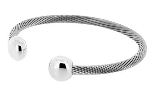 QRAY Bracelet - Deluxe Silvertone Bracelet Q-Ray Q.Ray (8 Inches)