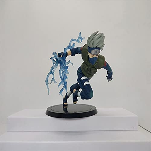 Liiokiy Anime Figure Naruto Kakashi Sasuke Figura de acción Modelo Hecho A Mano Modelo Animación Personaje Modelo Arte Estatuas Juegos Anime Decoración Arte Regalo Coleccionable Figura 18cm