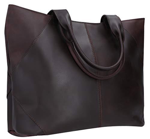 Gusti Shopper Leder - 'Cecilia' Handtasche Ledertasche Henkeltasche mit Reißverschluss Braun Leder Shopper Handtasche Ledertasche Henkeltasche mit Reißverschluss Braun Leder