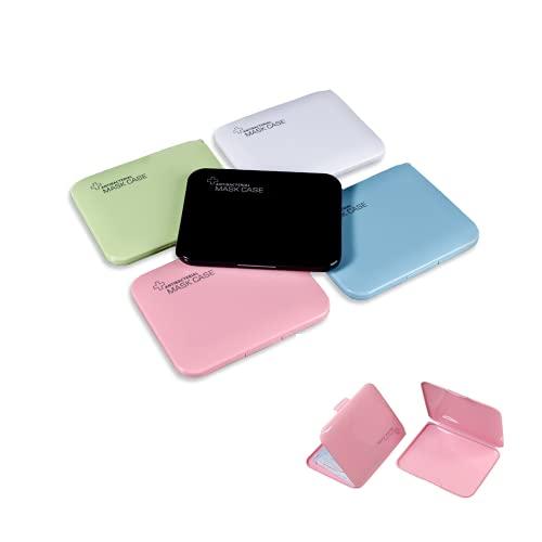 MAGIC SELECT 5 Estuches de Almacenamiento Multiuso Caja Plástica Impermeable, Anti-Polvo, Reutilizable, Portamascarillas, compresas, medicinas (5 Rectangular Pequeño)