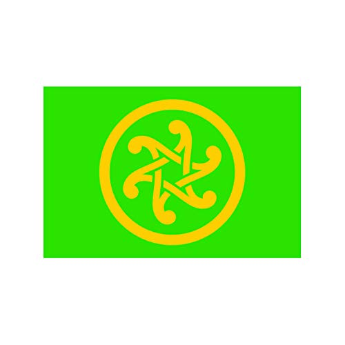 fagraphix Pan-Celticism Flag Sticker Self Adhesive Vinyl Decal pan Celticism Celtic Nationalism Celtic Nations Triskelion