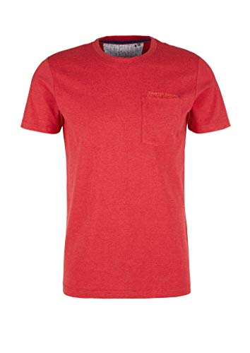 s.Oliver Herren 130.10.004.12.130.2024164 T-Shirt, 31W0 Popart red Melange, XL