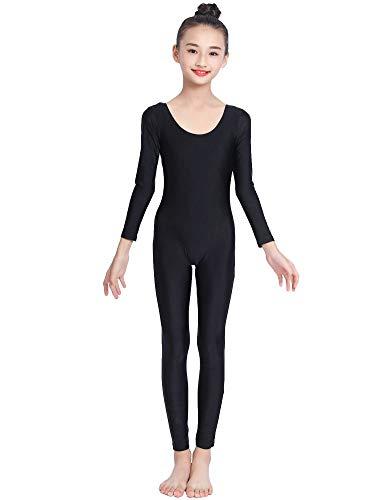 OVIGILY Girls Kids Long Sleeve Dance Unitard Bodysuits
