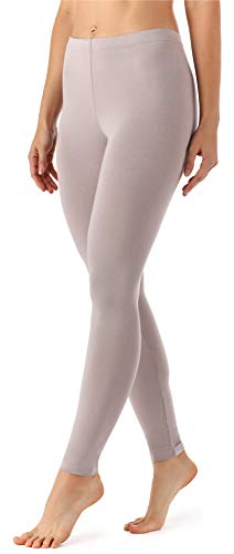 Merry Style Damen Lange Leggings aus Viskose MS10-143 (Caffelatte, XL)