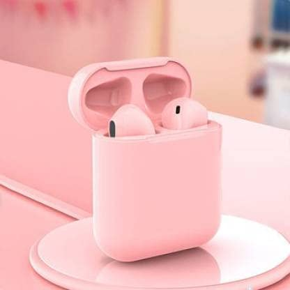 NKL Wireless Bluetooth Earbuds with Portable Charging Case,Sensor Touch (Pink)