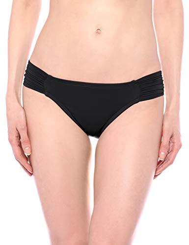 La Blanca Women's Island Goddess Side Shirred Hipster Bikini Swimsuit Bottom, Black, 0