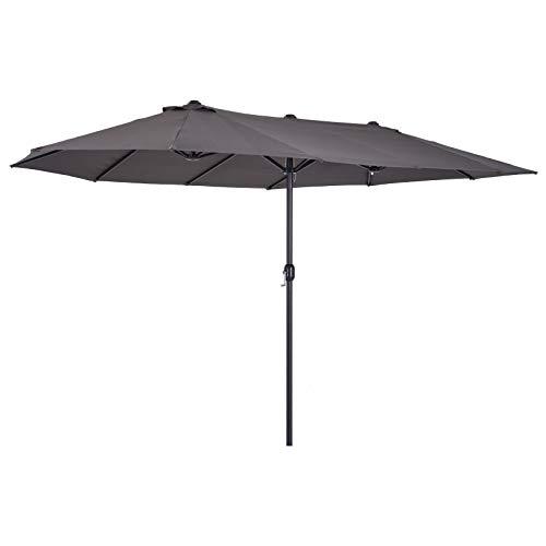 Outsunny Sombrilla Parasol Doble para Jardín Carpas Toldos