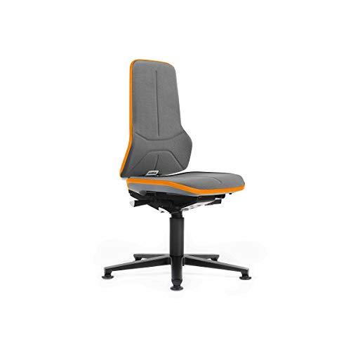 bimos Arbeitsdrehstuhl mit Alugestell - mit Bodengleitern - Stoff, Flexband orange - Arbeitsdrehstuhl Arbeitsdrehstühle Arbeitsstuhl Arbeitsstühle Drehstuhl Drehstühle Stuhl Stühle Universalstuhl Universalstühle