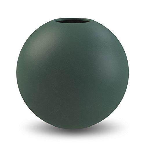 Cooee Design Ball vaas, keramiek, donkergroen, 20 cm