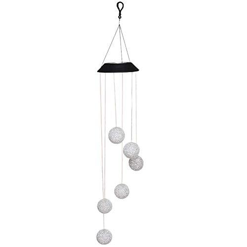 AJH Solaire lumière LED Couleur Changeante Boule de Cristal Carillon éolien Suspendu étanche extérieur décoratif Romantique Vent Cloche lumière