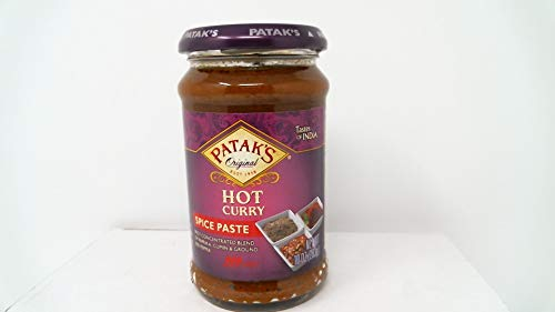 Pataks Curry Paste Hot 10oz