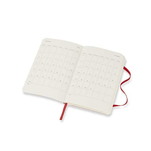 モレスキン手帳2020年1月始まり12ヶ月ウィークリーダイアリーホリゾンタル(横型)ソフトカバーポケットサイズスカーレットレッドDSF212WH2Y20-e