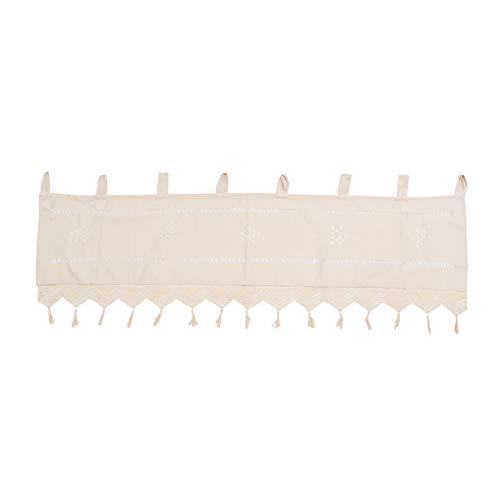 Veemoon Cortinas de Nivel Corto Media Ventana Cortinas Transparentes Rústica Cortina Corta para Baño Sala de Estar Dormitorio