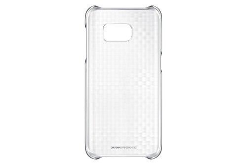 Samsung Clear Cover Hülle für Galaxy S7, silber/transparent