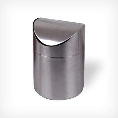 MEPAL Tischmülleimer 2,2 L Kunststoff Tischabfalleimer Mini Mülleimer Silber Neu