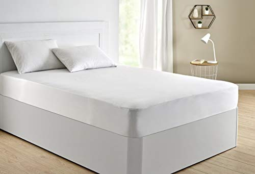 Pikolin Home - Protector de colchón 100% algodón de punto suave con membrana impermeable y transpirable Smartseal®
