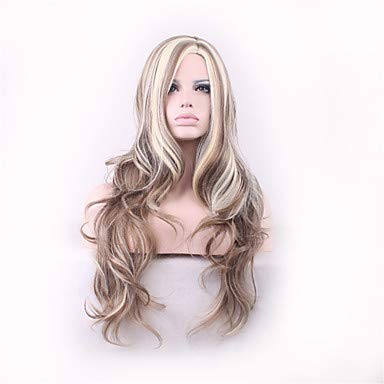FUHOAHDD Moda Estilo de Pelo Rizado Pelucas realistas Perruque peruca Pelucas sintéticas Largo Femme Productos Pelucas Cosplay de Anime Sexo