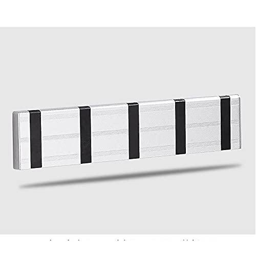Puerta de entrada Invisible Gancho Espacio Aluminio Puerta trasera Abrigo Abrigo Libre Perforación Montado en pared Sin fisuras Capa Plagable Gancho-C11 Gancho para toallas de pared fácil de ins
