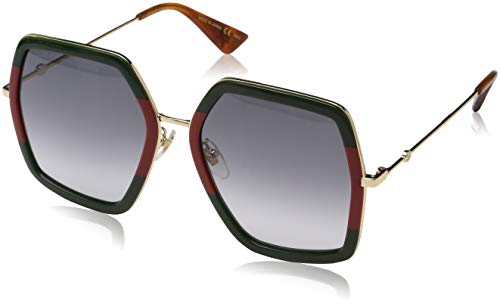 Gucci GG0106S Sunglasses 007 Green/Gold / Grey Gradient Lens 56 mm