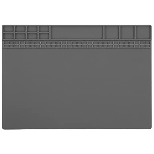 SALUTUY Alfombrilla antiestática, Alfombrilla de Silicona de tamaño Compacto Resistencia Antideslizante Antiestática para teléfono móvil(Gray)