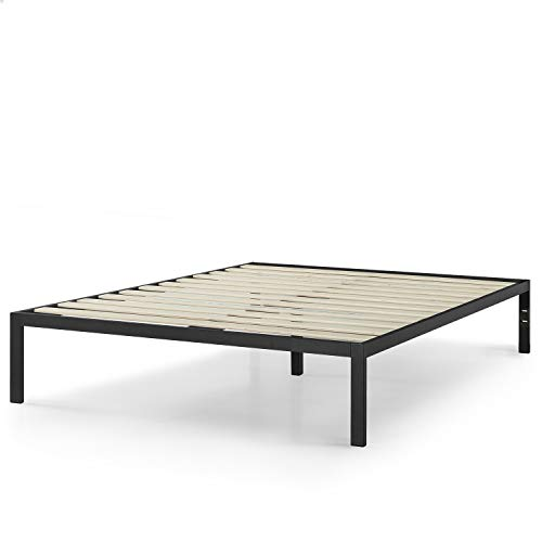 Zinus AZ-ASMP-15K Mia Modern Studio 14 Inch Platform 1500 Metal Bed Frame / Mattress Foundation / No Box Spring Needed / Wooden Slat Support / Good Design Award Winner / Black, King