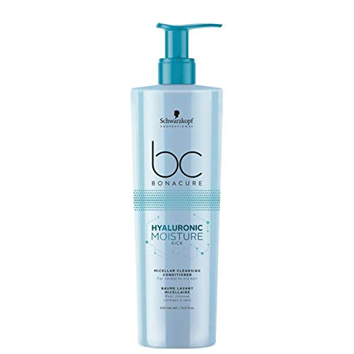 Schwarzkopf Professional BONACURE Hyaluronic Moisture Kick Micellar Cleansing Conditioner, 500 ml