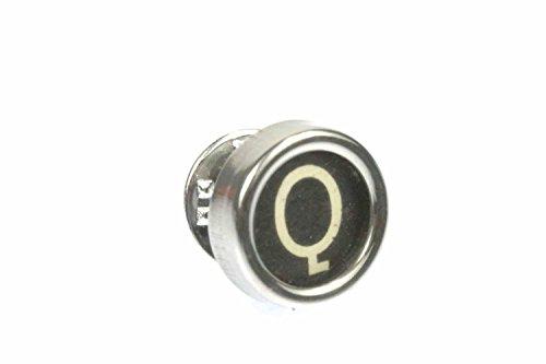 Miniblings WUNSCHBUCHSTABE ABC Brosche Pin Anstecker Button Initialen schwarz, Buchstabe:Z