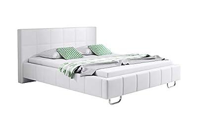 Cama moderna válida para colchón de 150x190 (colchón no incluido en el precio) Estructura de la cama de madera tapizada en Polipiel PU de alta calidad y fácil de limpiar. Patas de metal cromado Dimensiones:Largo: 208cm Ancho: 162cm Alto cabecero 81cm...