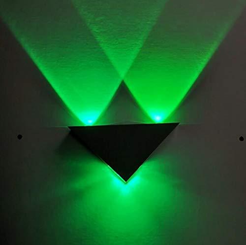 LED kreative Wandleuchte, moderne/zeitgenössische bündige Metallwandlampen-Dekoration-Befestigungen für Hintergrund-Wand-Flur-Partei, 9W, 85-265V,green