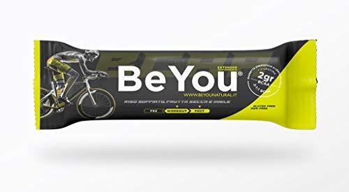 Barrette Snack energetiche a lento rilascio di carboidrati - Be You Sport Extended Performance - 24 barrette Frutta secca e miele -Con Aminoacidi BCAA(2:1:1) -Senza Glutine anche x Celiaci