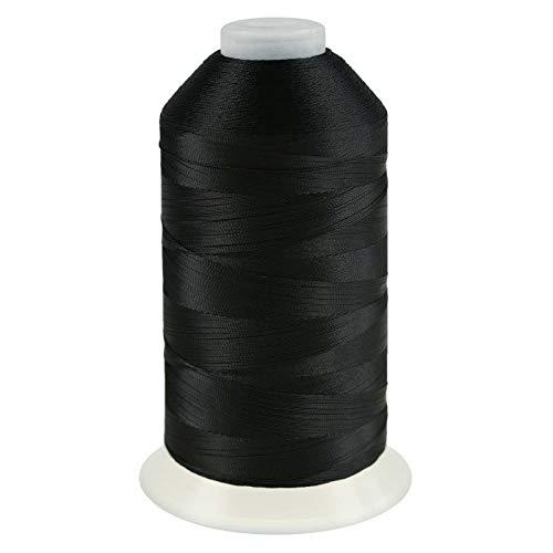 maDDma 3000m Nähgarn Polyester 210D/3, Sattlergarn Forellenfaden, Farbe:A807 schwarz