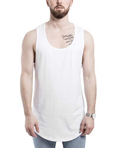 Blackskies zakrzywiony podkoszulek z długim rękawem | długi oversize mięśnie koszula moda podstawowe streetwear męska długa koszulka - biała szara czarna SML XL