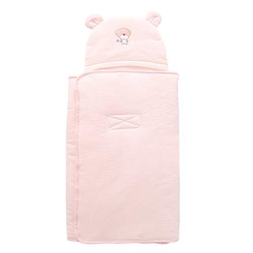 LUO Sacos de Dormir Edredón recién Nacido, otoño e Invierno, bebé Saco de Dormir, antichoque del bebé Manta de algodón, Unisex de 0-12 Meses (Color : Pink, Size : 84 * 84cm/33.07 * 33.07inches)
