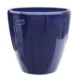 Gartentraum.de - Vaso per Piante Akaste Azur, Rotondo, in gres, Colore: Blu