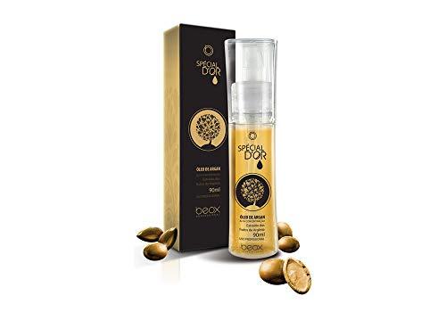 L'Huile D'ARGAN Traitement de cheveux | Brillance Intense | restauration des cheveux abîmés | 90 ml Bouteille | Spècial d'or à l'huile d'argan | Beox Professional